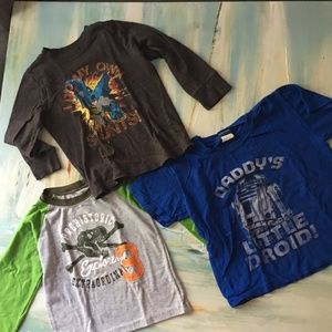 Bundle of 3 Shirts Long Sleeve Size 4T